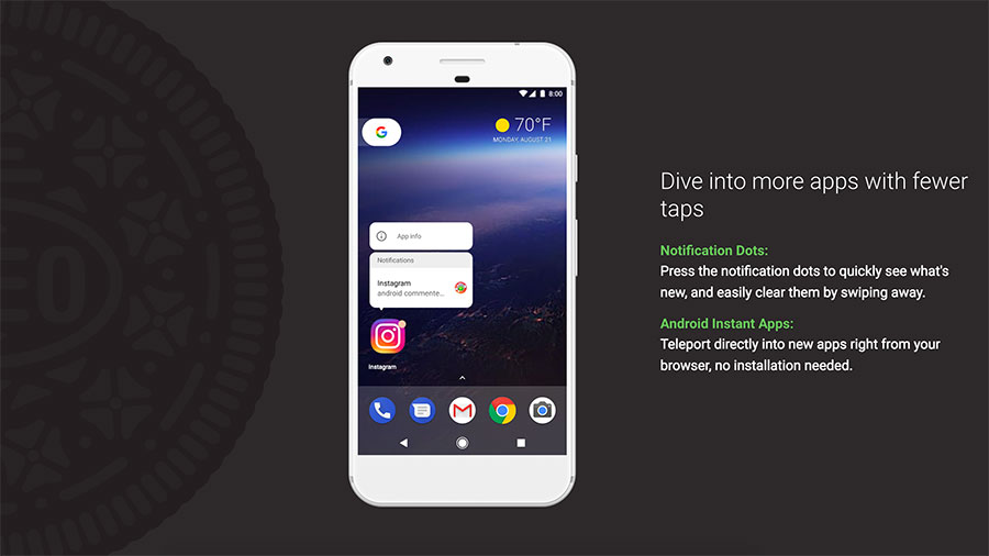 Android Oreo Notifications Dots