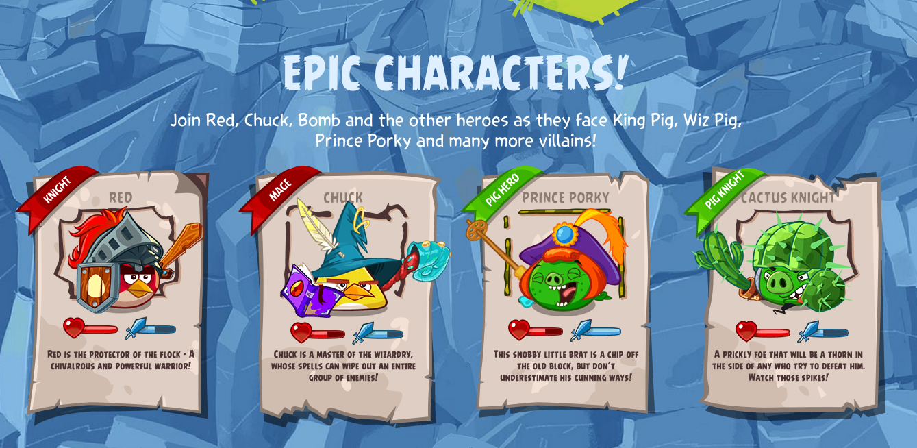 Angry Birds Epic Charactor