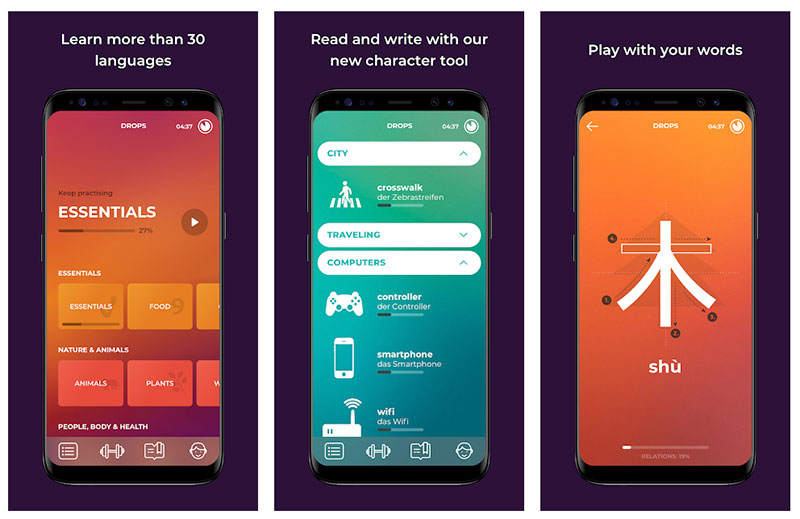 Best App 2018 - Drops: Learn 31 new languages