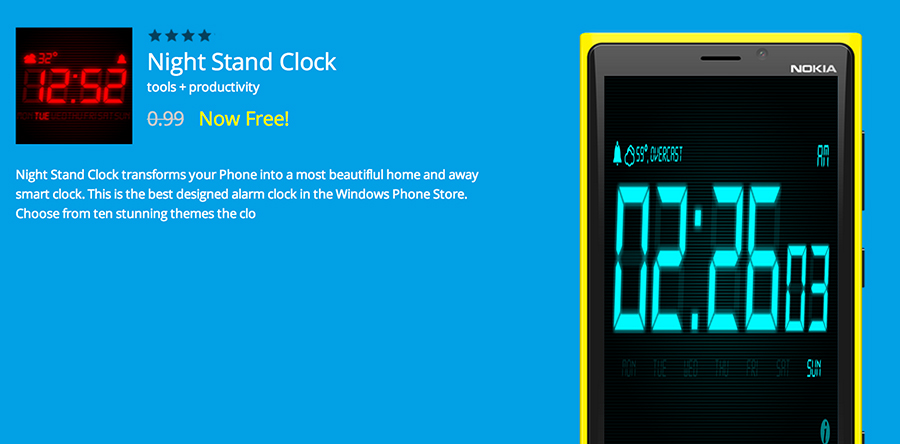 Night-Stand-Clock-Free-App-of-the-day