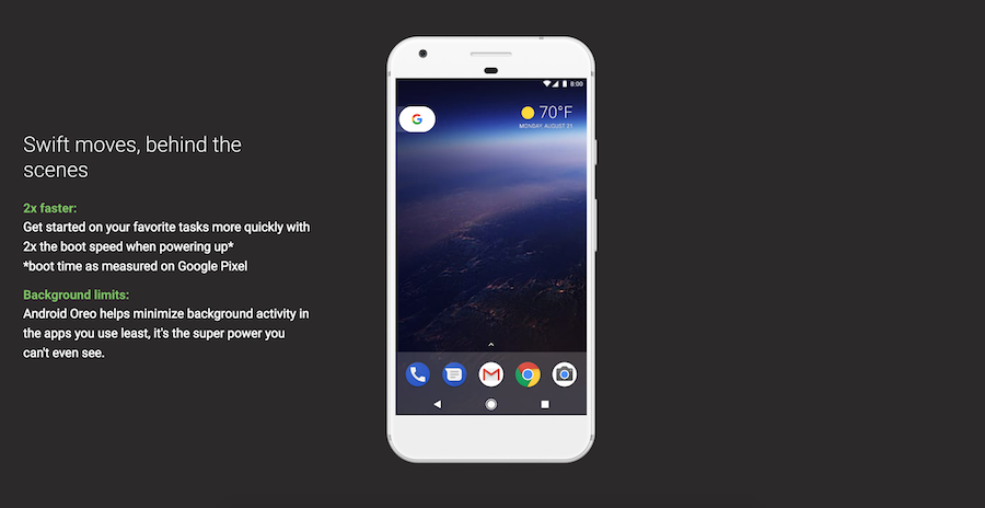 Android 8.0 Oreo 2x faster