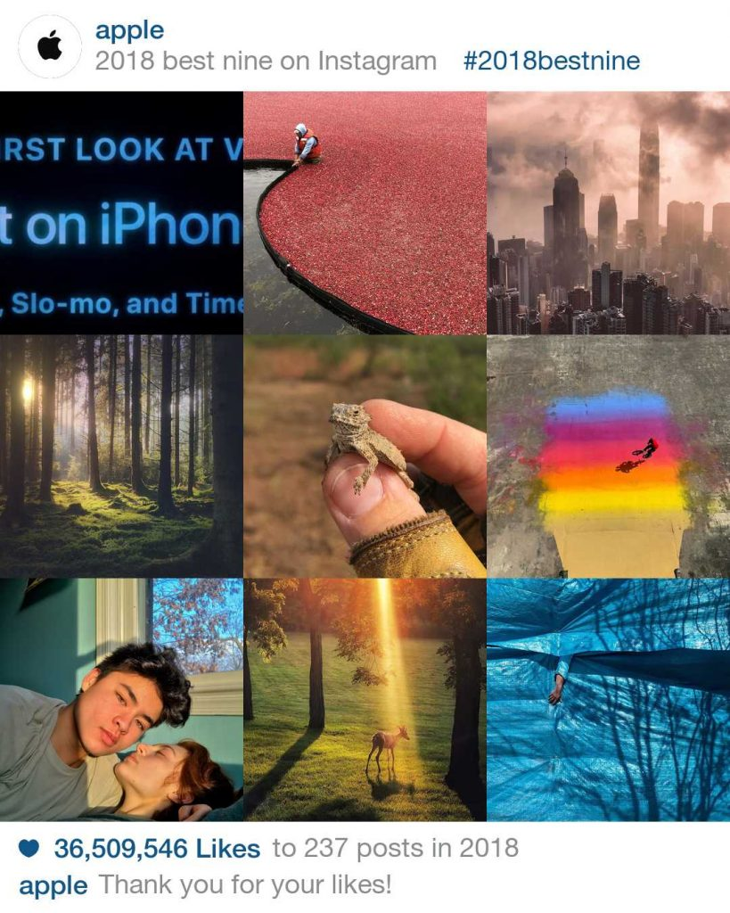 Apple 2018 BEST NINE