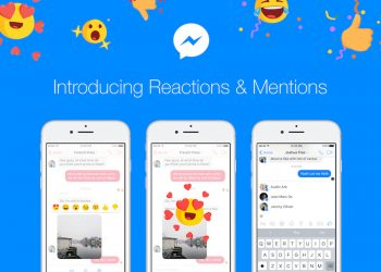 facebook messenger mentions reaction