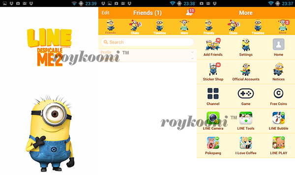 theme-line-android-despicable-me
